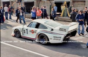 PORSCHE 935-77 Group 5. Photo. Mass/Ickx car in pit lane before Silverstone 6 Hours 1977 (b)